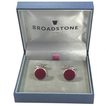 Broadstone Burgundy Velvet Men's Cufflinks