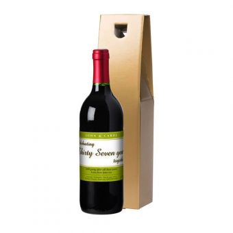 Personalised Red Wine Anniversary