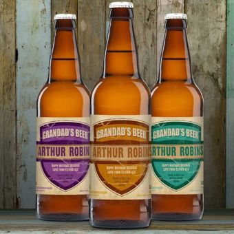 Personalised Beer 3 Pack Granddad's Beer Set