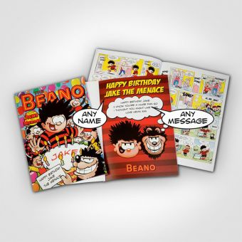 Personalised Beano - Soft Back Book