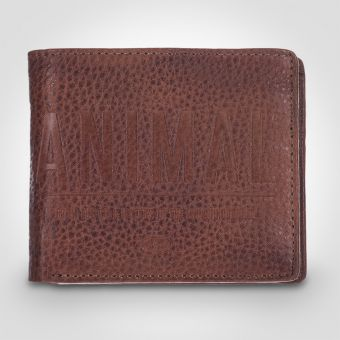 Animal Peako Wallet Brown
