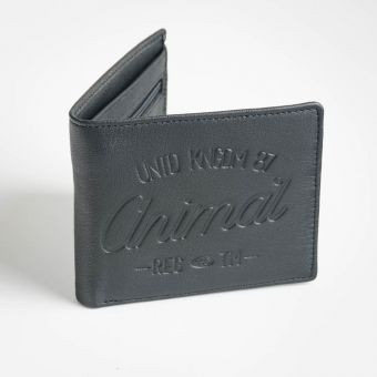 Animal Leather Peako Wallet Black