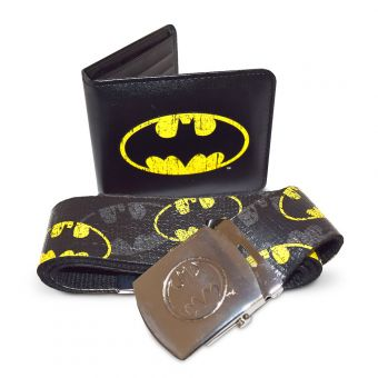 Batman Wallet and Belt Gift Set