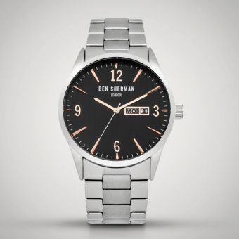 Ben Sherman London Watch Black/Silver WB053BSM