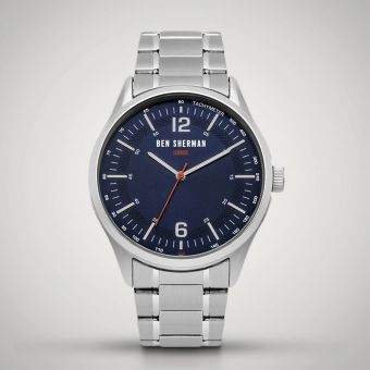 Ben Sherman London Watch Silver/Navy