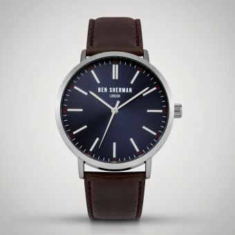 Ben Sherman Navy/Brown London Watch WB061UBR