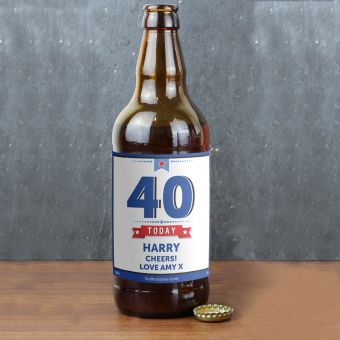 Personalised Birthday Star Beer