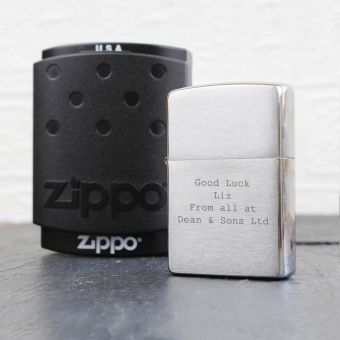 Personalised Chrome Zippo Lighter