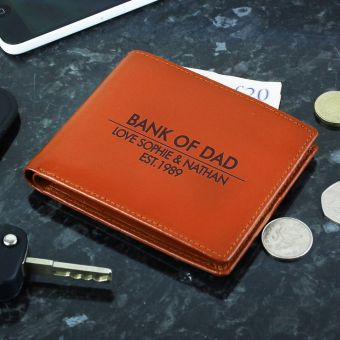 Personalised Classic Tan Wallet
