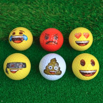 Emoji Novelty Golf Balls 6-Pack
