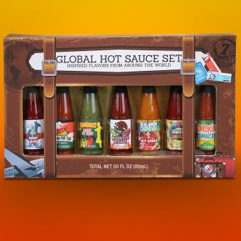Global Hot Sauce Set Of 7