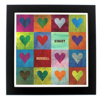 Personalised I Heart You Poster