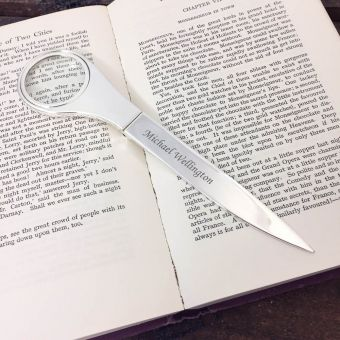 Personalised Letter Opener and Magnifying Glass
