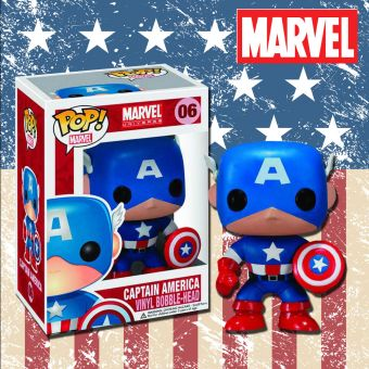 Captain America Pop Vinyl Figurine