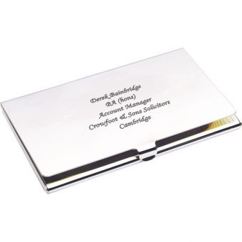 Silver Plated Business Card Case