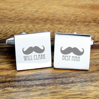 Personalised Best Man Cufflinks