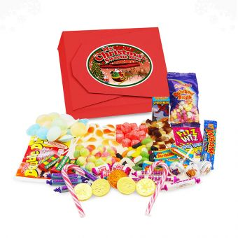 Personalised Christmas Retro Sweet Tuck Box