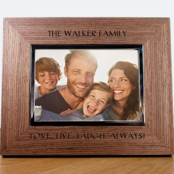 Personalised Engraved Photo Frame