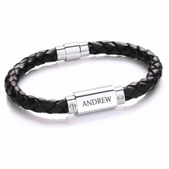 Leather Bracelet Black Image
