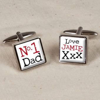 Personalised The Worlds Best Dad Cufflinks