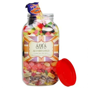 Personalised Traditional Sweet Mix Jar Large