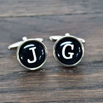Personalised Typewriter Key Style Cufflinks