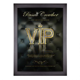 Personalised VIP Poster (Black)