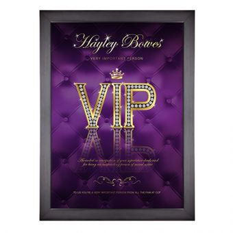 Personalised VIP Poster (Purple)