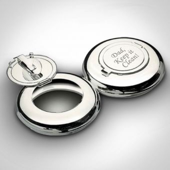 Personalised Round Pocket Ashtray