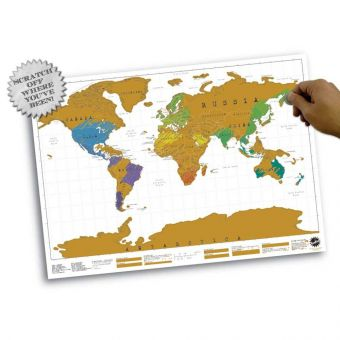 Scratchmap Personalised Map of the World