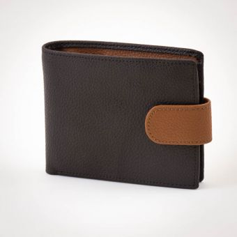Smith & Canova Tab Wallet Brown