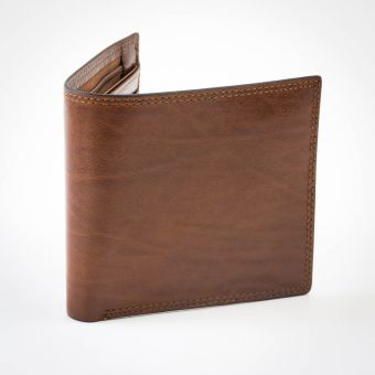 Smith & Canova Zipped Wallet Brown
