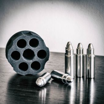 Steel Bullet Ice Cubes