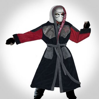 Suicide Squad Deadshot Hooded Bath Robe