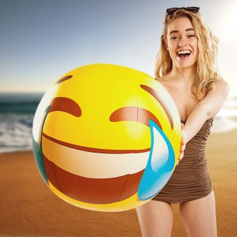 Tears of Joy Emoji Beach Ball