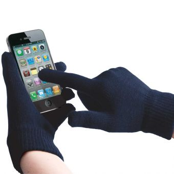Touch Screen Gloves Navy