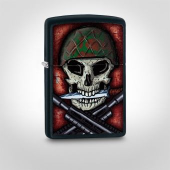 Zippo War Skull and Crossbones Cigarette Lighter
