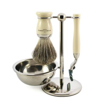4 Piece Shaving Set With Bowl Cream