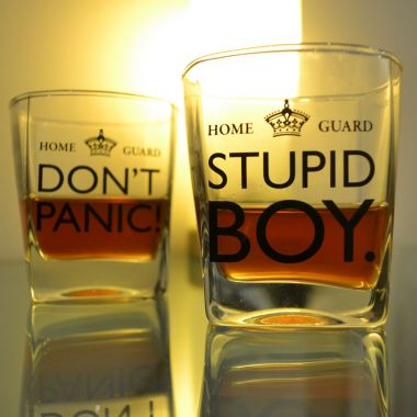 Dad's Army Whisky Glasses