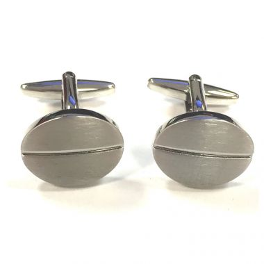 Centre Stripe Oval Cufflinks