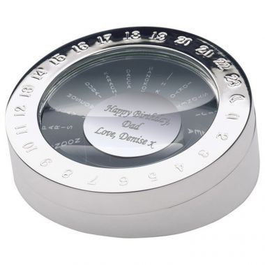 Engraved World Time Converter Paperweight
