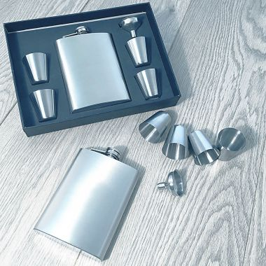 Personalised Flask and Cup Set