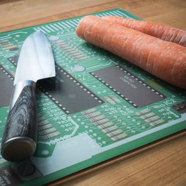 Geek Motherboard Chopping Board