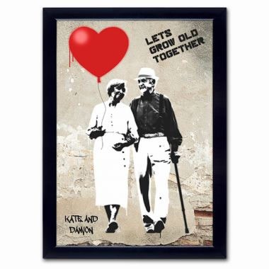 Personalised Let's Grow Old Together Poster