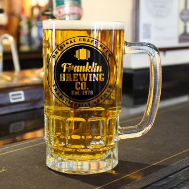Personalised Brewing Company Beer Glass Tankard