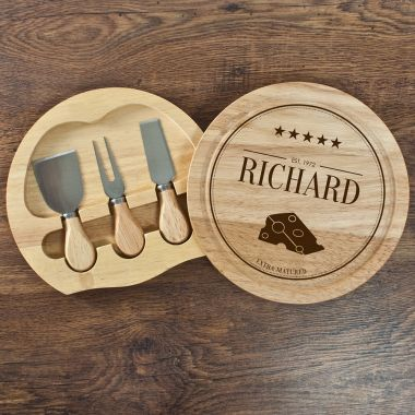 Personalised Extra Mature Cheese Board Set