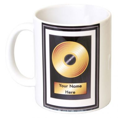 Personalised 'Golden Record' Mug