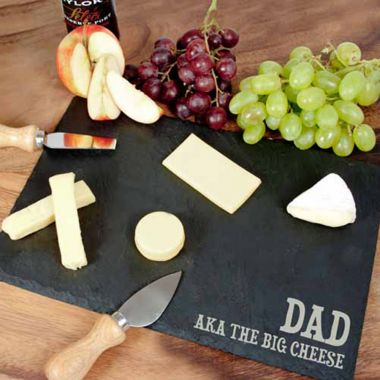 Personalised Rustic Slate Cheeseboard