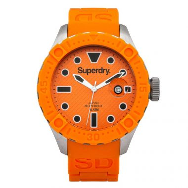 scuba watch superdry orange