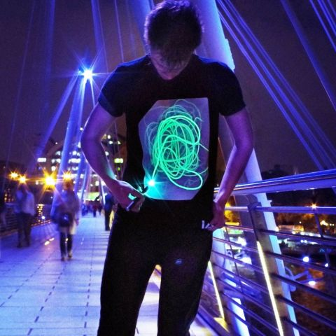 Interactive Glow T-Shirt Black